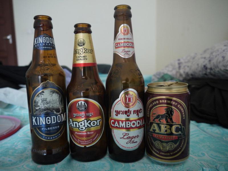 カンボジアの色々なビール